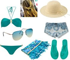 """""""blue beach :)"""" by lalayssalovee ❤ liked on Polyvore"""