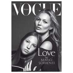 Kate Moss e Lila Grace para a Vogue Itália (Foto: Reprodução/Instagram)