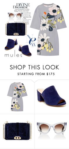 """""""Blue mules"""" by pamela-802 ❤ liked on Polyvore featuring Marni, Charles David, Rebecca Minkoff, Thierry Lasry and mules"""