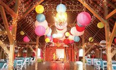 Wedding trends - Colorful barn wedding party Check out our barn wedding for more inspiration! Budget Wedding, Wedding Reception, Our Wedding, Wedding Venues, Wedding Planning, Dream Wedding, Wedding Ideas, Reception Ideas, Party Wedding