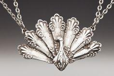 Peacock pendant. Photo courtesy of silverspoonjewelry.com.