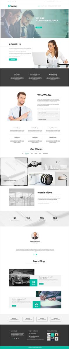 Proto is beautifully design #PSD #template for #corporate business website download now➩ https://themeforest.net/item/proto-creative-psd-template/17163836?ref=Datasata
