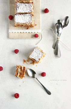 ... millefeuilles, crème légère à la vanille ...