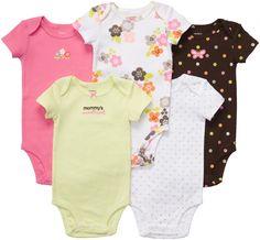 Carter's 5-Pack Short Sleeve Bodysuits - Best Price  #DiaperscomNursery