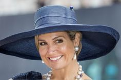 Queen Máxima of The Netherlands at the baptism of the cruise ship MS Koningsdam…