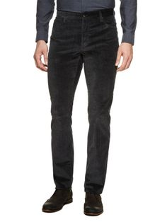 Brushed Slim-Fit Pants by John Varvatos Collection on Gilt.com