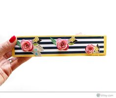 Turn a plain wooden holder into a flower pencil keeper!