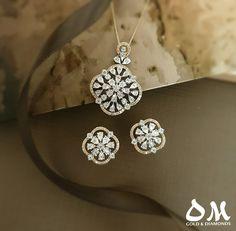 Diamond blooms for everyday! Diamond Earrings Indian, Diamond Jewellery, Jewelry Sketch, Jewellery Sketches, Pendant Set, Diamond Pendant, Bridal Jewelry, Silver Jewelry, Ear Rings