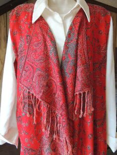 Pashmina Scarf Vest. Women's Vest Made from Scarf. by TennMtnHome, $29.95