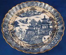 Antique 18thC Caughley Salopian Porcelain Temple Pattern Plate Porzellan Teller
