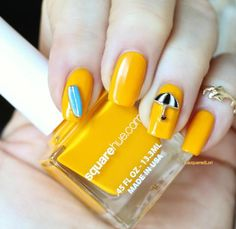 A banana peel yellow. Vibrant and pigmented Healthy Nail Polish, Nail Charms, Nail Polish Colors, Glitter, Adventure, Nails, Instagram Posts, Vibrant, June