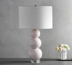 #styleCerena Rose Stacked Ball Lamp with Shade # Affiliate Link