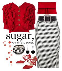 """Sugar, You Ain't So Sweet"" by dickensfan ❤ liked on Polyvore featuring Ann Taylor, Comme des Garçons, Altuzarra, L.K.Bennett, ESCADA and Bling Jewelry"