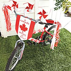 Display real size picture of Bicycle makeover: Decorate your bike for Canada Day