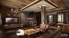 Дом в Вилково: интерьер, зd визуализация, квартира, дом, шале, 50 - 80 м2, студия, камин, печь, интерьер #interiordesign #3dvisualization #apartment #house #shale #50_80m2 #studio #atelier #fireplace #stove #interior arXip.com