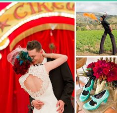 Vintage circus wedding  Love love love love love the shoe and bouquet combo!!