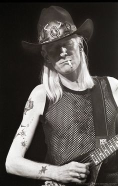 "John Dawson ""Johnny"" Winter III (Born February 23, 1944 - July 16, 2014)  Well known for his southern blues and rock and roll style as well as his physical appearance. Both he and his brother- the infamous blues guitarist and singer Edgar Winter, were born with albinism.   http://voices.yahoo.com/top-10-blues-singers-all-time-3392498.html"