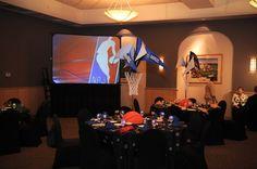 NBA Theme Bar Mitzvah Party Decorations {A Magic Moment} - mazelmoments.com