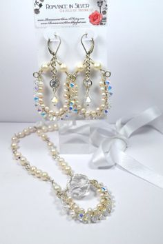 Sterling Silver Freshwater Pearl and by RomanceInSilverBride, $155.00