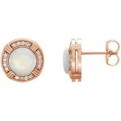 14kt Rose Opal & 1/6 CTW Diamond Earrings Style # 86284, $1023.40 http:kimandradestudios.jewelershowcase.com