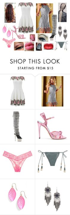 """""""First Date with C&S"""" by ravenrebelle ❤ liked on Polyvore featuring Blumarine, Pleaser, Gucci, Hanky Panky, SHE MADE ME, Alexis Bittar and Eye Candy"""