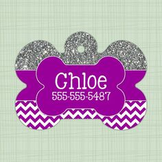 Custom Pet ID Tag circle Personalized Dog Tag by SadieBugsCollars