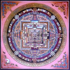 Kalachakra thangka painted in Sera Monastery, Tibet (private collection)