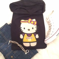 Lakers Hello Kitty Pullover Thin pullover sweater. New. Never worn. Kobes #24 Sweaters