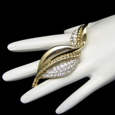 Beautiful #Vintage Gem Craft #Designer Large Leaf #Brooch with Sparkling #Rhinestones from #MyClassicJewelry on #eBay See more Fabulous Vintage Brooches and Pins in my Store: http://stores.ebay.com/My-Classic-Jewelry-Shop/Brooches-Pins-Clips-/_i.html?_fsub=1589281016&_sid=102404336&_trksid=p4634.c0.m322