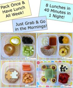 Make lunches and pack ahead for a whole week using easylunchboxes