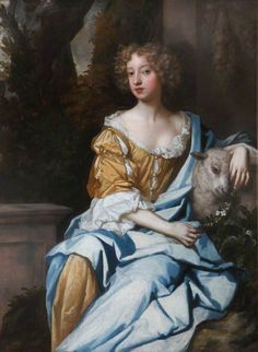 After Peter Lely (English artist, 1618-1680) Eleanor 'Nell' Gwyn (1651–1687) As Shepherdess with Lamb