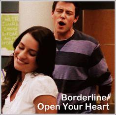 Day 9: Favourite Duet from Season 1 - Borderline/Open Your Heart (Finchel)