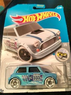 2015 Mattel Hot Wheels Morris Mini HW snow stormers blue 1:64 scale Hot Wheel... #HotWheels #Morris