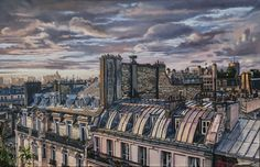 PARIS oil on canvas 65 x 100 cm