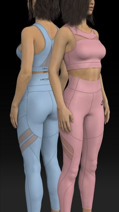 A visual conceptualization of our sports bra and leggings set design for Limitless Athletics Tutorial Zbrush, Drawing Female Body, Fashion Design Drawings, 3d Fashion, Workout Attire, Yoga, Designs To Draw, Women's Leggings, Women Lingerie