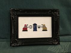 Doctor Who - Mini Daleks and TARDIS Cross Stitch Little Red Stitches