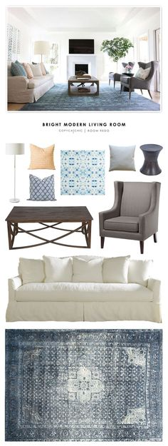 Copy Cat Chic Room Redo | Bright Modern Living Room