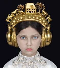 Find the latest shows, biography, and artworks for sale by Adriana Duque. Adriana Duque believes that fairy tales and myths are mirrors for society; Adriana Duque, Foto Fashion, Historical Clothing, Headgear, Belle Photo, Headdress, Beautiful Images, Wearable Art, Fashion Photography