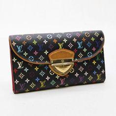 Louis Vuitton Portefeuille Eugenie Monogram Multicolor Wallets Black Canvas…