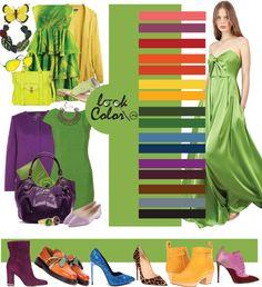сочетание с модным цветом 2017 - зелень