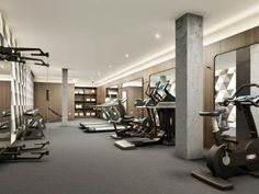photo of avenue on 7 condos  home gym design gym decor