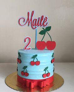 Fruit Birthday, Baby Birthday Cakes, Birthday Cakes For Women, Buttercream Cake, Fondant Cakes, Cupcake Cakes, Duck Cake, Cherry Season, Pastel Party