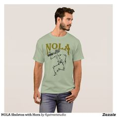 NOLA Skeleton with Horn T-Shirt