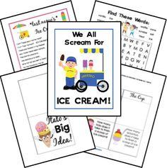 free lapbooks ice cream unit study