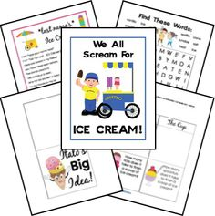 Ice Cream Unit Study and Lapbook Printables
