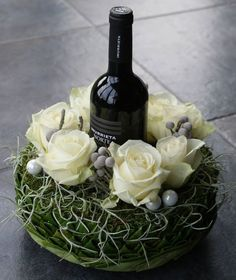 Wedding Reception Centerpieces Flowers Wine Bottles Ideas For 2019 Flowers Wine, Fresh Flowers, Silk Flowers, Wedding Reception Centerpieces, Floral Centerpieces, Floral Arrangements, Table Arrangements, Ikebana, Deco Floral