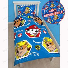 Paw Patrol SingleUS Twin Duvet Cover and Pillowcase Set  Free Paw Patrol Small Foil Caption Stickers *** You can get more details by clicking on the image.