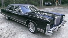 Black and Beautiful Lincoln Continental Town Car.