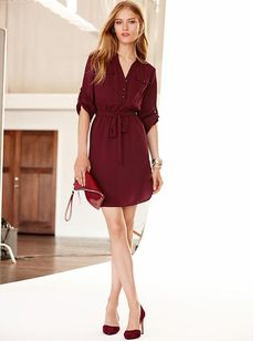 Today's Coveted Working Look: Banana Republic Tie Waist Shirtdress