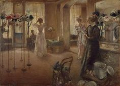 The Hat Shop, Henry Tonks, 1892 Birmingham Museums